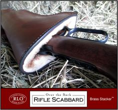 Brass Stacker™ RLO Over the Back Rifle Scabbard :: Scabbards for Lever Action Rifles :: Browning™ Platform Products :: Brass Stacker™