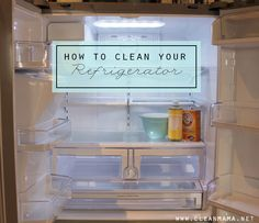 How to Clean Your Refrigerator using natural ingredients you probably have!