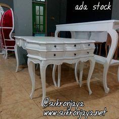 meja konsul laci 6 duco putih ada stock