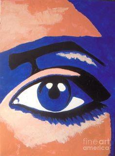 Eye Print featuring the painting Blue Eye by Vesna Antic
