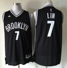 de4f0c1b5 Men s Brooklyn Nets  7 Jeremy Lin Black Revolution 30 Swingman Basketball  Jersey