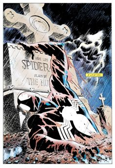 kravens last hunt spiderman from the grave buried for 2 weeks black suit psychedelics psychological nudity best comic arc of all time? Comic Book Characters, Comic Books Art, Comic Art, Book Art, Univers Marvel, Amazing Spiderman, Marvel Art, Marvel Heroes, Ms Marvel