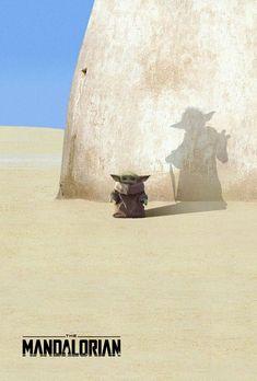 Mandalorian - Yoda shadow in the tradition of Darth Vader poster - Star Trek, Star Wars Film, Star Wars Fan Art, Darth Vader Poster, Star Wars Poster, Mandalorian Poster, Images Star Wars, Star Wars Pictures, Cuadros Star Wars