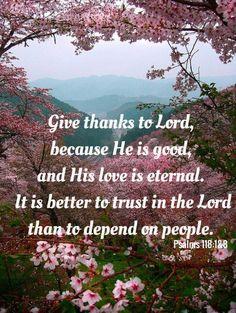 Psalms 118:1&8
