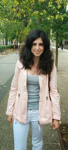 Light Pink Raincoat #fashion #moda