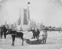 St. Paul Ice Palace, St. Paul Winter Carnival. 1887