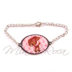 Original Bambi Bracelet in Pink Arabella by Lilidoll - MiaDeRoca Bangle Bracelets, Bangles, Shops, Bambi, Pendant Necklace, The Originals, Pink, Jewelry, Fashion