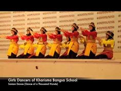The Saman dance (dance of a thousand hands) from Indonesia, a traditional seated dance
