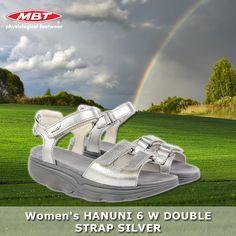 Women's Hanuni 6 W Double Strap Silver Calf Leather, Sculpture, Sandals, Silver, Shoes Sandals, Sculptures, Sculpting, Statue, Sandal