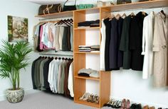 closet idea . . this would actually help me to keep my closed clean and organized!!