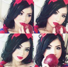 Snow White Makeup Cosplay for Halloween www.instagram.com/kimberlyx3you
