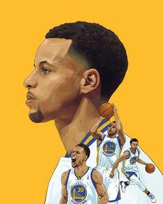"""nicholasgrinere: """" S T E P H E N C U R R Y Digital Illustration, 2016. Had a lot of fun with this one! I created it to be included in a print exhibition at the Oakland Era Bar in California for the NBA Playoffs. The first of a new series as well, so..."""
