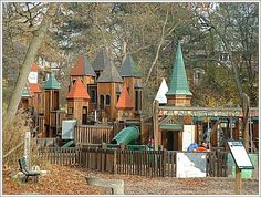 Castle Playground in High Park, Toronto. My childhood consisted of visiting this playground. It kind of cool that this was part of the movie The Orphan. Canada Eh, Toronto Canada, Toronto High Park, Cool Kids Bedrooms, Parking Design, Close To Home, Landscape Photos, Ontario, Castle