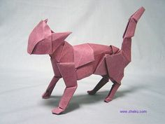 I hope you like paper kitties, because here's 21 of them. Origami Cat Instructions, Gato Origami, Art Reference, Cats, Tattoos, Happy, Paper, Gatos, Tatuajes