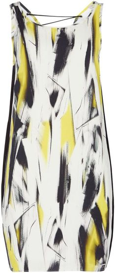Calvin Klein SLEEVELESS TIE NECK DRESS