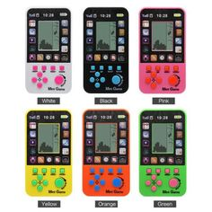 Tetris Retro Game Brick Lcd Classic Toys Handheld Fun Hand Held Vintage Arcade