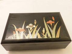 Vintage Japanese Black Lacquer Jewelry Box vestiesteam Vintage