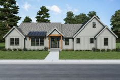 This farmhouse design floor plan is 2564 sq ft and has 3 bedrooms and has 2.5 bathrooms.