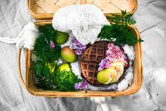 Gluten-free Belgium Chocolate Waffles & Vegan Rose Strawberry Cream (perfect for summer picnic!)