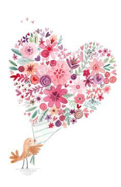 Holding a flower bird, birds, pink flowers, hand painted png Red Flower Bouquet, Flower Bird, Pink Flowers, Art Floral, Illustration Blume, Cute Illustration, Happy Birthday Images, Happy Birthday Greetings, Watercolor Flowers