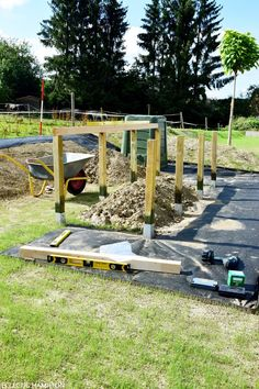 Fortschritte im neuen Garten - Das Hochbeet