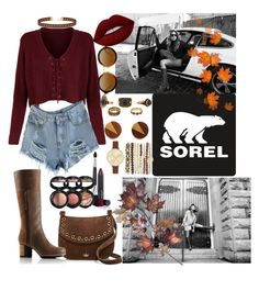 """Kick Up the Leaves (Stylishly) With SOREL: CONTEST ENTRY"" by nmanuel102809 ❤ liked on Polyvore featuring SOREL, Jessica Carlyle, Miss Selfridge, Kate Spade, Lime Crime, Laura Geller, C. Jeré and sorelstyle"