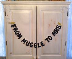 """From Muggle To Mrs""Glitter -- perfect for a Harry Potter bachelorette or bridal shower!   By HawthorneAve on Etsy"