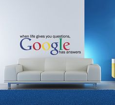 Vinyl Wall Decal Sticker Art - Google has the answers -