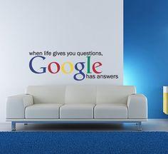 Vinyl Wall Decal Sticker Art - Google has the answers -