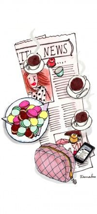 Fashion illustration / coffee break