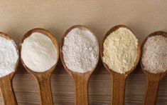 I need an organic all-purpose flour or almond flour. I don't know what flour I should use. I need one that is gluten free. Farine T45, Tortillas Veganas, Pasta Casera, Pan Sin Gluten, Coconut Custard Pie, Types Of Flour, Diabetic Desserts, Gluten Free Flour, Blue Berry Muffins