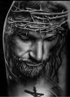 Christian Paintings, Christian Artwork, Christian Pictures, Jesus Artwork, Jesus Christ Painting, Christus Tattoo, Jesus Tattoo Design, Jesus Drawings, Jesus Wallpaper