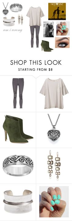 """""""Am I Wrong by Nico & Vinz"""" by themortalinstrumentslover ❤ liked on Polyvore featuring J Brand, Uniqlo, Gianvito Rossi, Cherish Always, Michael Kors and Lucky Brand"""