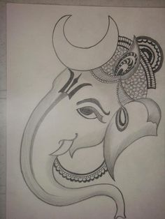 lord ganesha drawing - Google Search                                                                                                                                                                                 More