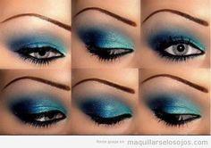 maquillaje ojos en azul - Buscar con Google