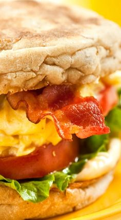 BLT for breakfast! This filling and satisfying egg sandwich is so good you will never believe you are eating something better for you than a sausage and egg biscuit. But with 1/2 the calories, carbs, and sodium, only 1/3 the fat,