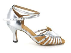 TDA Womens Dance Collection 6721 Wide Fit Silver Salsa Tango Ballroom Latin Shoes 10 M US * Visit the image link more details.(This is an Amazon affiliate link and I receive a commission for the sales)