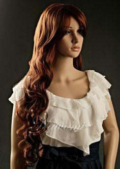 Fashion high quality cheap synthetic wig for women soft long wavy 0b2e189d9