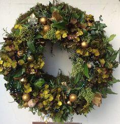 Green wreath #hydrangea#foliage