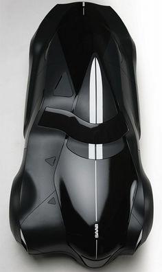 Saab 9 Griffin, Concept Car, future car, black car, automobile, vehicle, futuristic vehicle, black, concept, unique, strange
