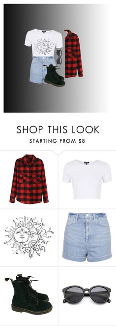 """""""Untitled #11"""" by jujujpanda ❤ liked on Polyvore featuring Topshop and Dr. Martens"""