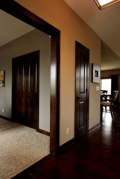 Dark Trim Wood Floors Craftsman Homes