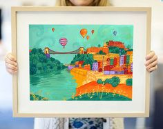 colourful bristol print by emma randall illustration | notonthehighstreet.com