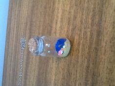 Mini glass bottle charm