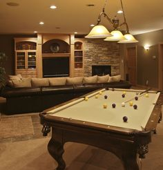Here's a photo gallery of 100's man cave designs - garage, basement, sports, billiards, cards, bars - every design imaginable.