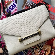 """Vince Camuto """"Julia"""" Clutch   Spotted on marieclairemag"""