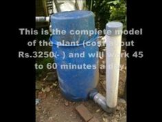 Homemade Biogas Plant .wmv