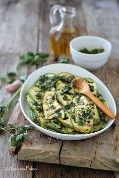 Zucchine Grigliate in Gremolada