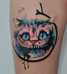 Risultati immagini per watercolor cat tattoo
