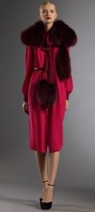 GUCCI: wine-ripened shades for fall #fashion #style #fur #gucci